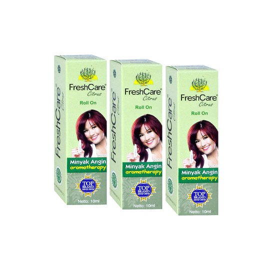 Freshcare Roll On Minyak Angin Citrus 10 ml 3 Botol - Lebih Hemat