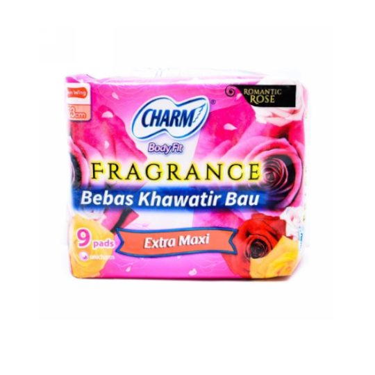 Charm Body Fit Fragrance Extra Maxi Wing 9 Pads
