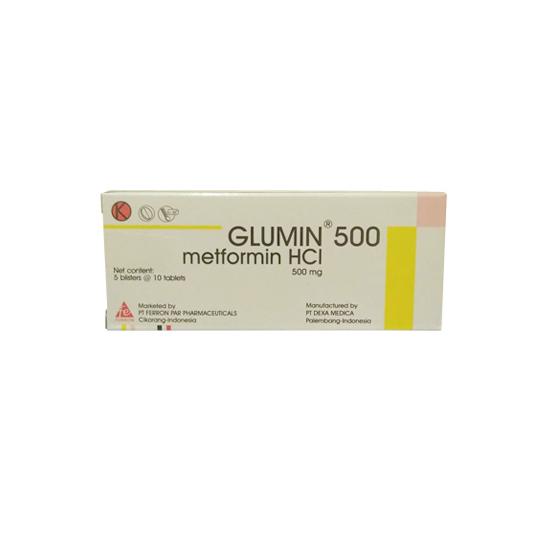 GLUMIN 500 MG 10 TABLET