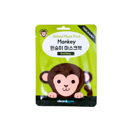 CLEAN & PURE ANIMAL MASK PACK MONKEY (SOOTHING) 23 ML