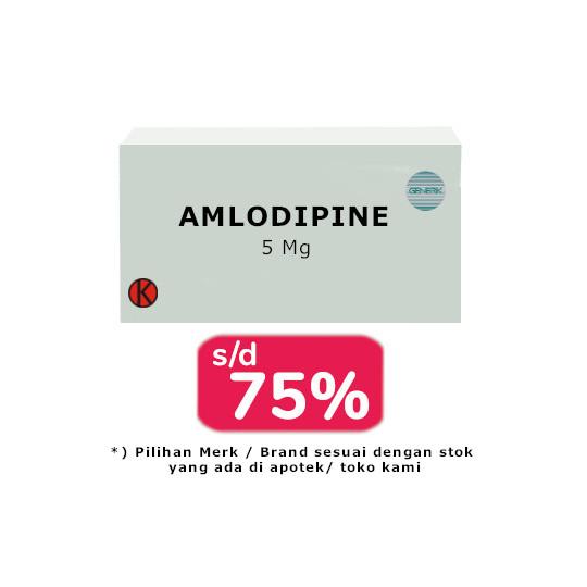 AMLODIPINE 5 MG 30 TABLET - OBAT RUTIN