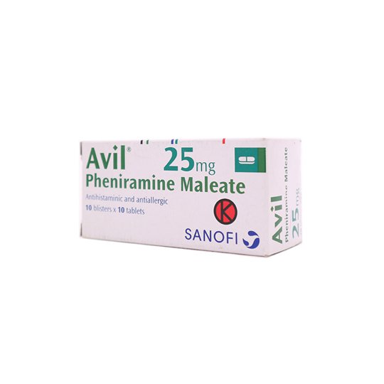 AVIL 25 MG 10 TABLET
