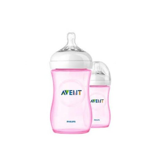 Avent Bottle Natural 260 ml Pink 2 Pieces