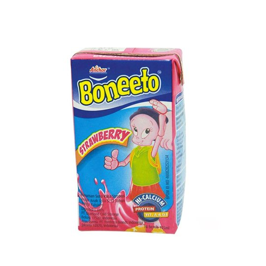 BONEETO UHT STRAWBERRY 125 ML