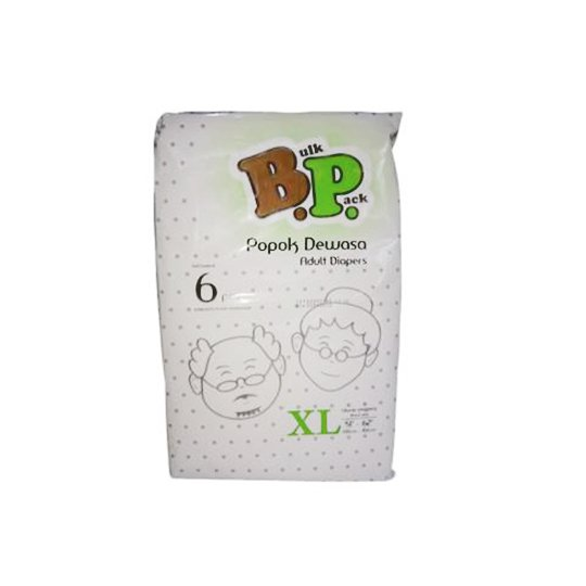BP ADULT DIAPERS XL 6 PIECES