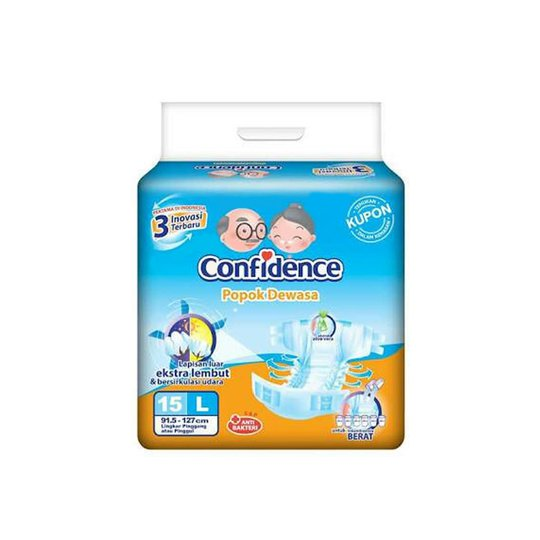 CONFIDENCE ADULT DIAPERS L 15 PIECES