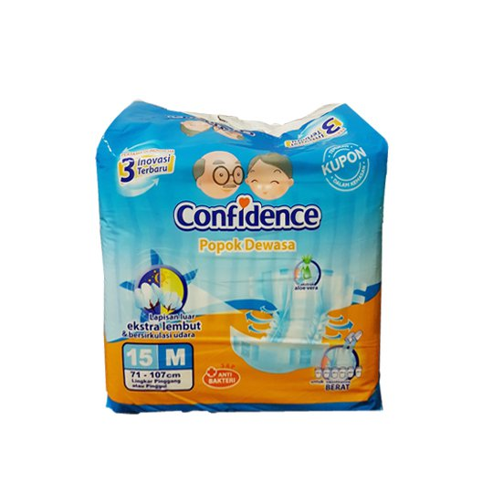 CONFIDENCE ADULT DIAPERS M 15 PIECES