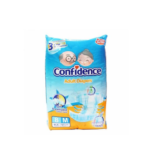 CONFIDENCE ADULT DIAPERS M 8 PIECES
