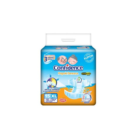 CONFIDENCE ADULT DIAPERS XL 15 PIECES