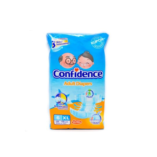 CONFIDENCE ADULT DIAPERS XL 6 PIECES