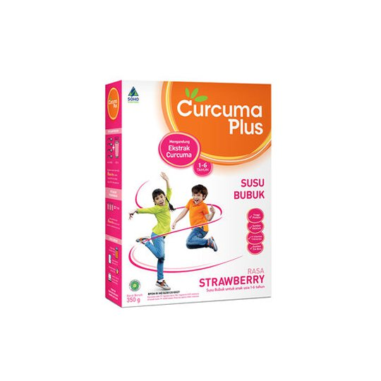 SUSU CURCUMA PLUS RASA STRAWBERRY 350 GR
