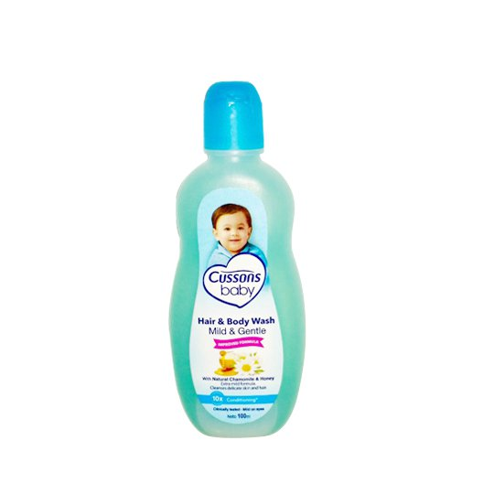 CUSSONS BABY HAIR & BODY WASH MILD & GENTLE 100 ML