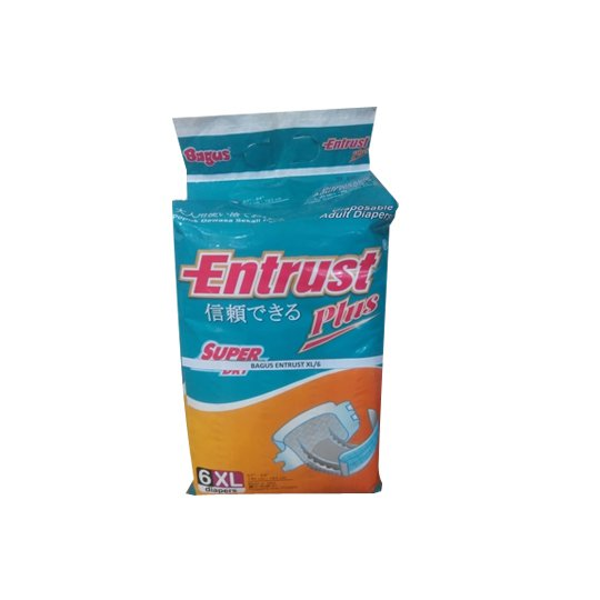 ENTRUST DIAPERS PLUS XL 6