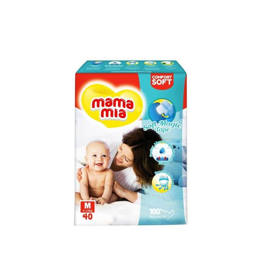 MAMA MIA DIAPERS TAPE M 40 PIECES