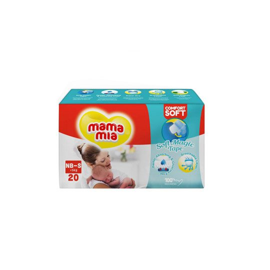 MAMA MIA DIAPERS TAPE S 20 PIECES