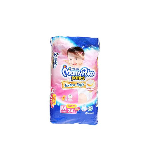 MAMY POKO PANTS EXTRA SOFT GIRLS M 34 PIECES