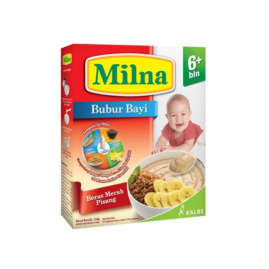 MILNA 6+ BUBUR BERAS MERAH PISANG 120 GR