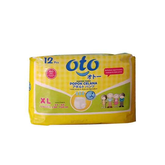 OTO ADULT DIAPERS XL 12 PIECES