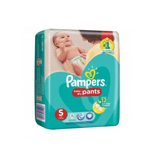 PAMPERS BABY DRY PANTS S 11 PIECES