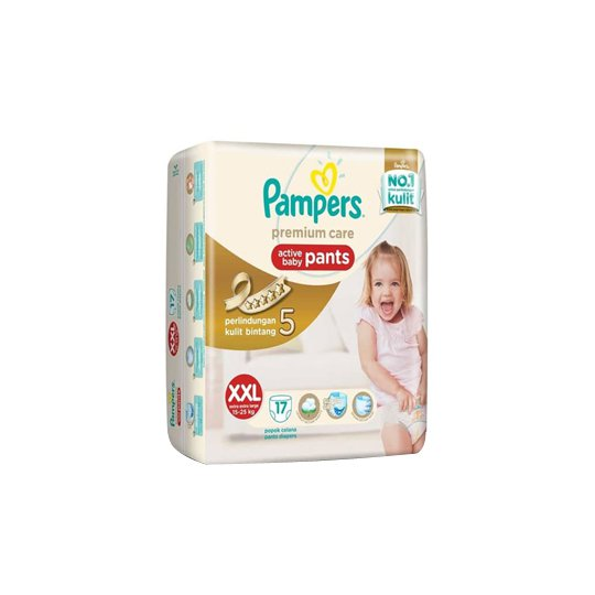 PAMPERS PREMIUM CARE ACTIVE BABY PANTS XXL 17 PIECES