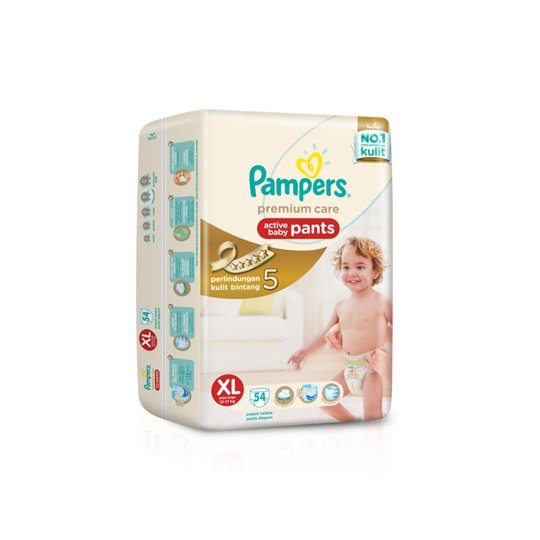 PAMPERS PREMIUM CARE ACTIVE BABY PANTS XL 54 PIECES