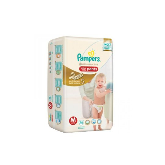 PAMPERS PREMIUM CARE PANTS M 46 PIECES
