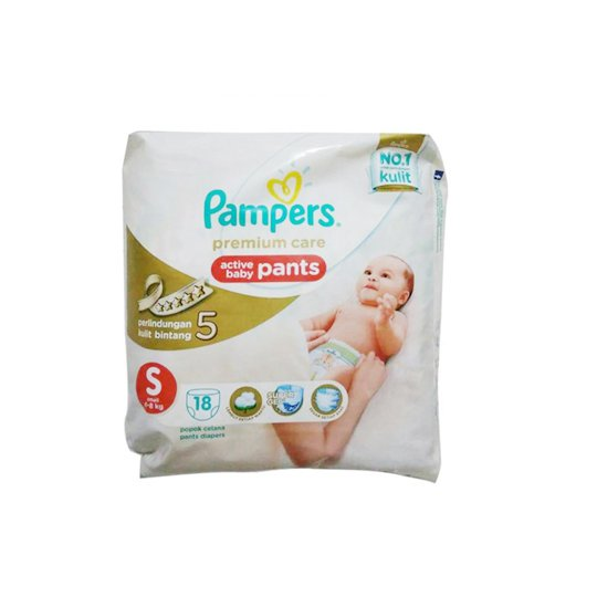 PAMPERS PREMIUM CARE PANTS S 18 PIECES