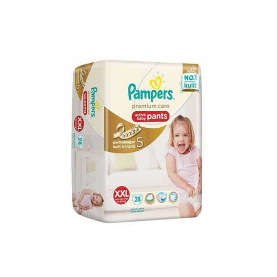 PAMPERS PREMIUM CARE PANTS XXL 28 PIECES