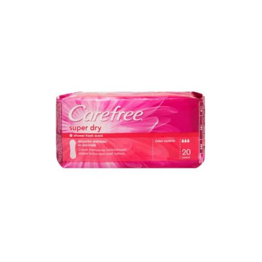 CARE FREE SPR DRY PANTY LINER 20'S