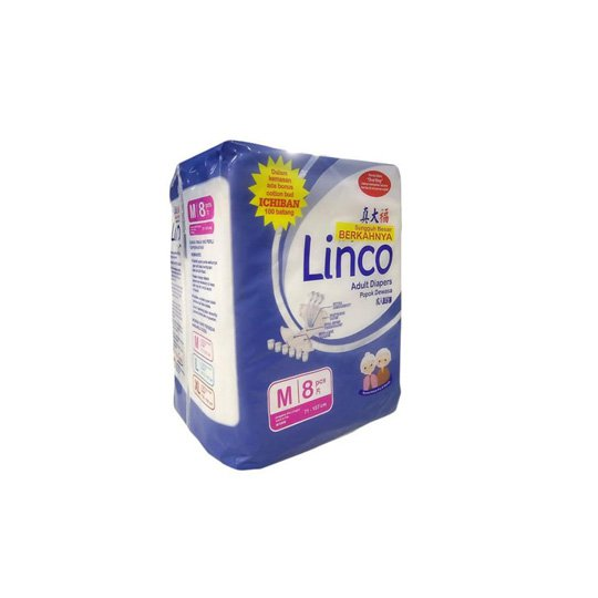 LINCO ADULT DIAPERS M 8 PIECES