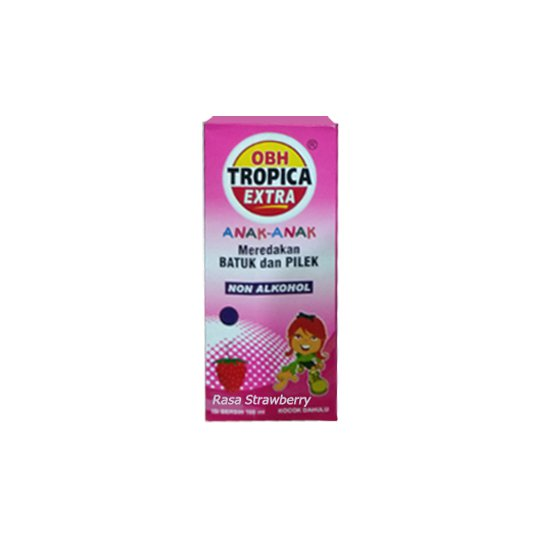 OBH TROPICA EXTRA ANAK RASA STRAWBERRY SIRUP 100 ML