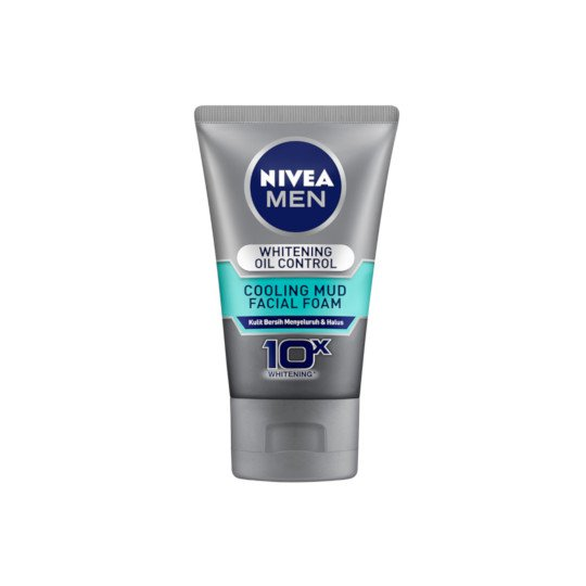 NIVEA MEN FACIAL FOAM WHITENING OIL CONTROL COOLING MUD 100 ML