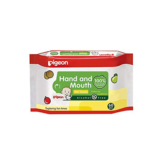 Pigeon Baby Wipes Hand & Mouth 60 Pieces