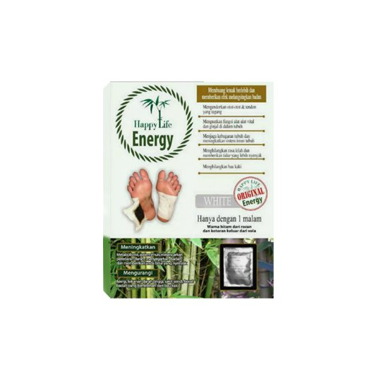 HAPPY LIFE ENERGY WHITE FOOT PATCH