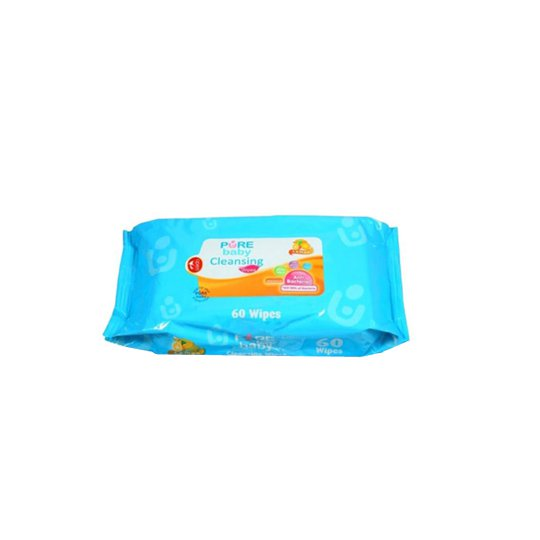 PURE BABY CLEANSING WIPES LEMON 60 PIECES