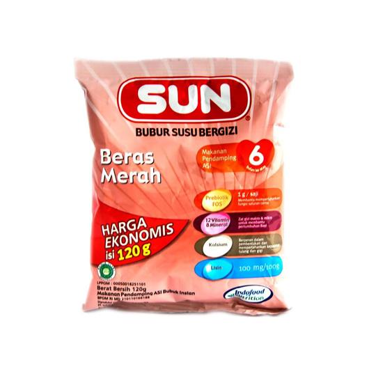 SUN BUBUR SEREAL EKONOMIS BERAS MERAH 120 G