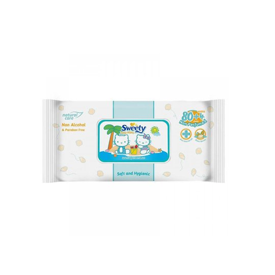 SWEETY BABY WIPES NON PARFUMED 80 PIECES
