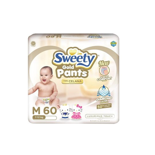 SWEETY GOLD PANTS M 60 PIECES