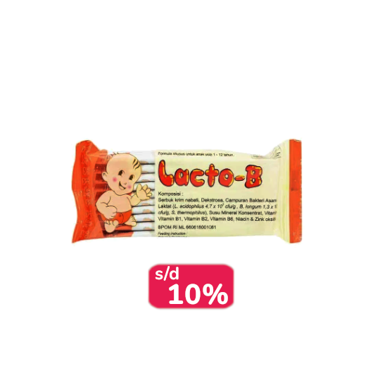 LACTO-B 10 SACHET - LEBIH HEMAT
