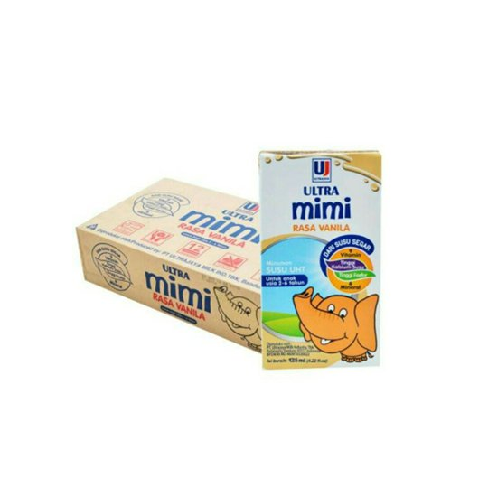 Ultra Mimi UHT Vanila 125 ml 40 Pack