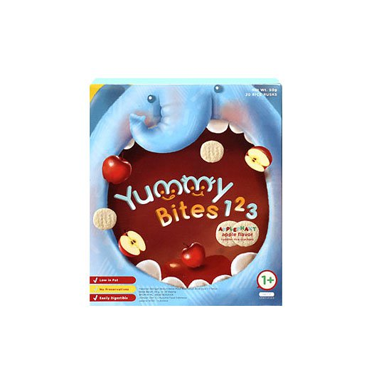 YUMMY BITES APPLE BISKUIT 123 50 GR