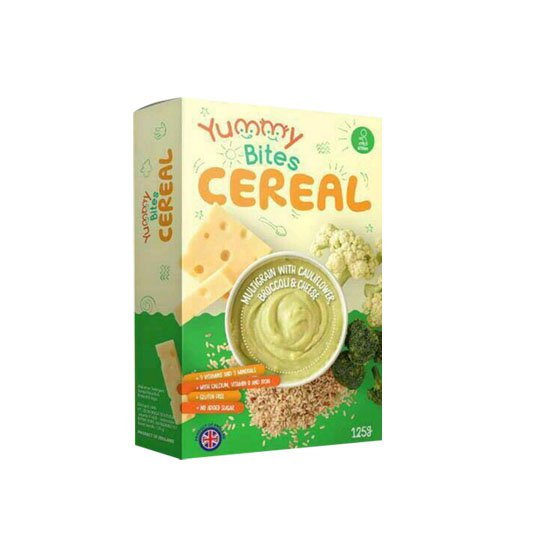 YUMMY BITES CEREAL BROCCOLI & CHEESE 125 GR