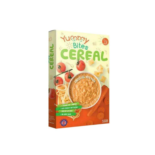 YUMMY BITES CEREAL CHEESE VEGETABLE WITH PASTA 100 GR