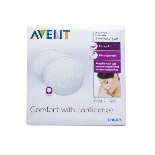 Avent Washable Breast Pads 6 Pieces