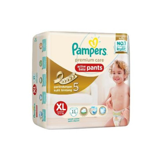 PAMPERS PREMIUM CARE ACTIVE BABY PANTS XL 11 PIECES