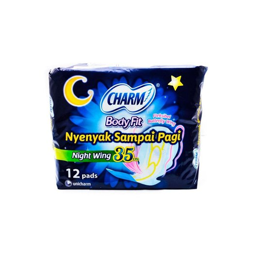 CHARM BODY FIT SUPER COMFORT NIGHT WING 12'S
