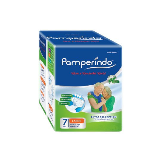 PAMPERINDO ADULT DIAPERS L 7 PIECES