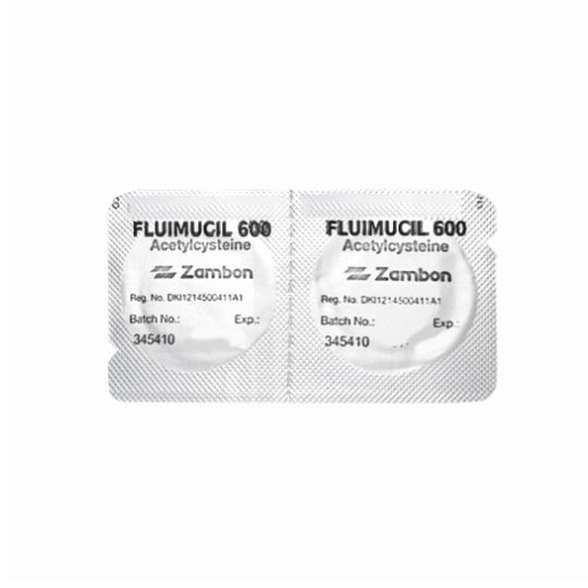 FLUIMUCIL 600 MG 2 TABLET EFFERVESCENT