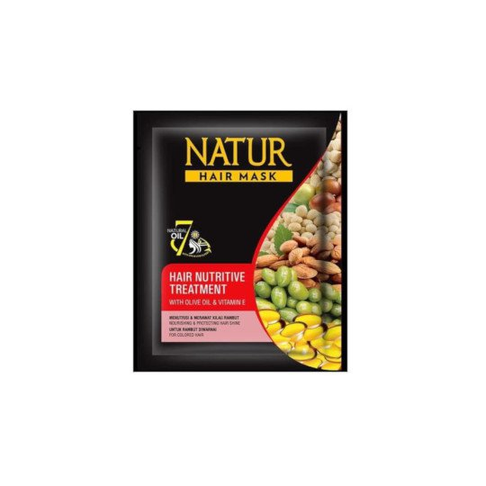 NATUR HAIR MASK NUTRITIVE TREAMENT WITH OLIVE OIL & VITAMIN E 15 G
