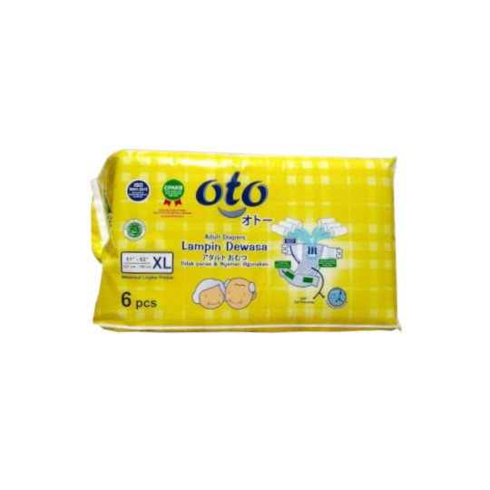 OTO ADULT DIAPERS XL 6 PIECES